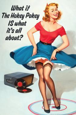 What If Hokey Pokey Is What It's All About Funny Poster by Ephemera