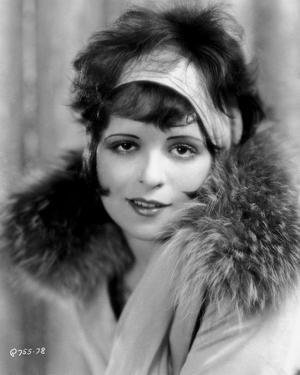 Clara Bow Posed with Furry Shawl by ER Richee