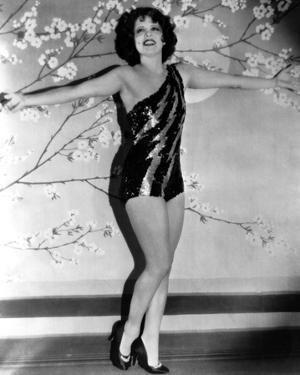 Clara Bow Posed with Sexy Dress by ER Richee