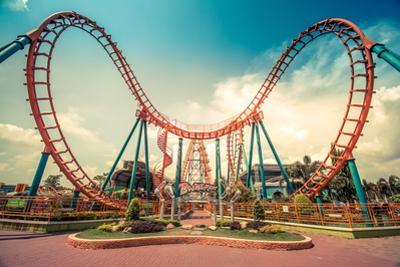 HDR Photo of a Roller Coaster by eranda