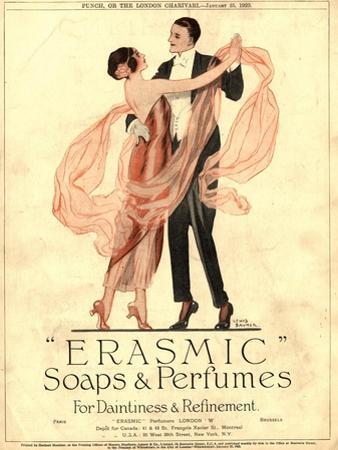 Erasmic Soap Perfume, Evening-Dress Dancing, UK, 1920