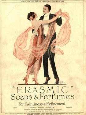 Erasmic Soap Perfume, Evening-Dress Dancing, UK, 1920
