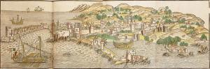 Panoramic View of Rhodes, 1486 by Erhard Reuwich