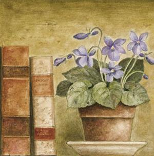 Potted Flowers with Books III by Eric Barjot