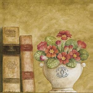 Potted Flowers with Books VII by Eric Barjot