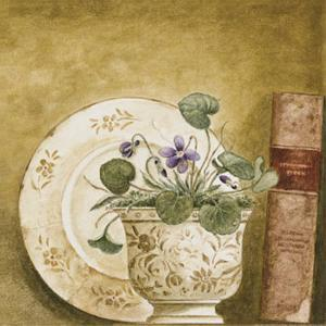 Potted Flowers with Books VIII by Eric Barjot