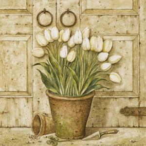 Potted Tulips I by Eric Barjot