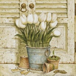 Potted Tulips II by Eric Barjot
