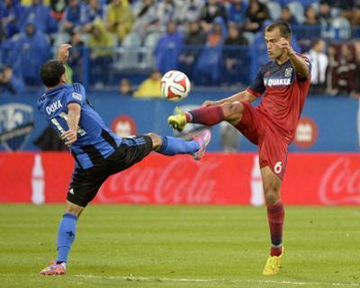 Aug 16, 2014 - MLS: Chicago Fire vs Montreal Impact - Dilaver Duka, Patrick Ianni