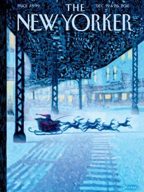 The New Yorker Cover - December 19, 2011 by Eric Drooker
