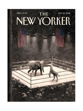 The New Yorker Cover - July 25, 2016 by Eric Drooker
