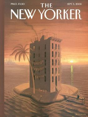 The New Yorker Cover - September 3, 2001 by Eric Drooker