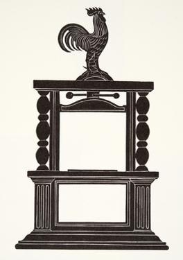 Cockerel and the Printing Press, 1926 by Eric Gill