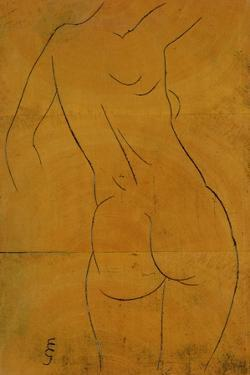 Female Nude, Back View by Eric Gill