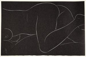 Female Nude Lying 2, 1937 by Eric Gill