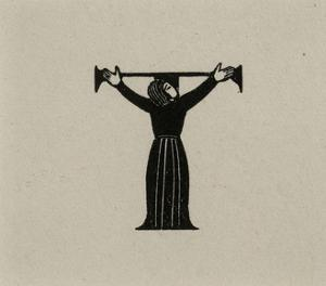 Initial T with Woman, 1929 by Eric Gill