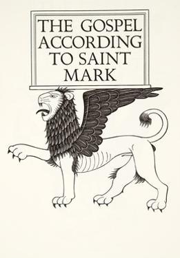 Lion of St Mark, 1931 by Eric Gill
