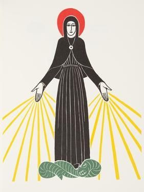 Our Lady of Lourdes, 1920 by Eric Gill