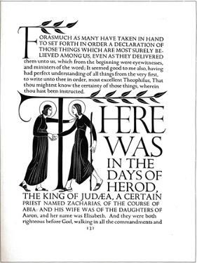 Page Decoration from the Four Gospels, 1931 by Eric Gill