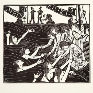 Safety First, from 'The Labour of Women', 1924 by Eric Gill