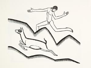 Skipping Upon the Mountains, 1925 by Eric Gill