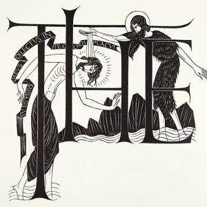 The Baptism of Jesus by John the Baptist from the Four Gospels, 1931 by Eric Gill