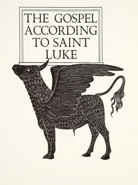 The Black Calf of St. Luke, 1931 by Eric Gill
