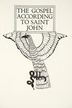 The Eagle of St.John, 1931 by Eric Gill