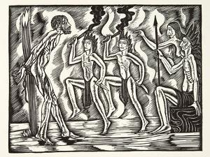 The Martyrdom, from the Travels and Sufferings of Father Jean De Brebeuf, 1938 by Eric Gill