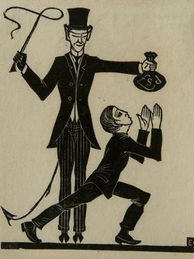 The Monkey and the Whip by Eric Gill