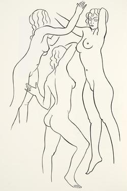 Three Female Nudes, 1938 by Eric Gill