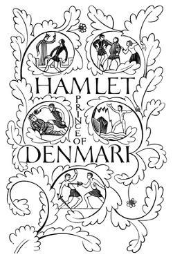 Title Page for Hamlet, 1932 by Eric Gill