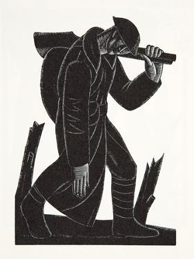 Westward Hoe!, after a Drawing by David James, 1921 by Eric Gill