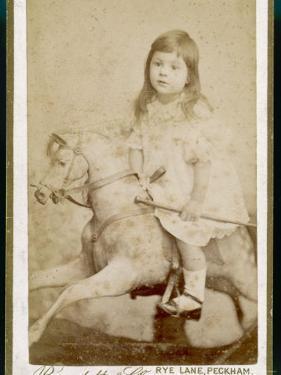 Eric James Age 3 Rides His Rocking Horse