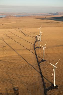 Windmill Turbines on an Open Landscape Near the Columbia River by Eric Kruszewski