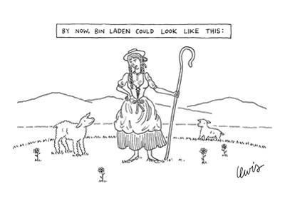 By Now, Bin Laden Could Look Like This: - New Yorker Cartoon by Eric Lewis