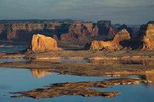Late Afternoon Light on Buttes Surrounding Lake Powell by Eric Peter Black