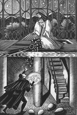 A Nun Throwing Away the Rich Jew's Jewellery by Eric Ravilious