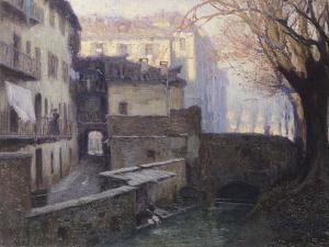 Ca' Del Borghett Near Porta Garibaldi in Milan, Italy by Eric Ravilious