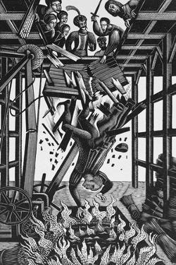 Cast Down, from 'The Famous Tragedy of the Rich Jew in Malta' by Eric Ravilious
