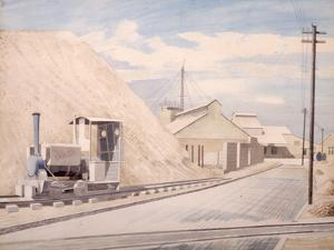 Cement Works, 1934 by Eric Ravilious