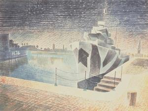 Destroyers at Night, C.1942 by Eric Ravilious