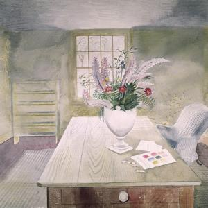 Garden Flowers on a Cottage Table by Eric Ravilious