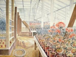Geraniums and Carnations by Eric Ravilious
