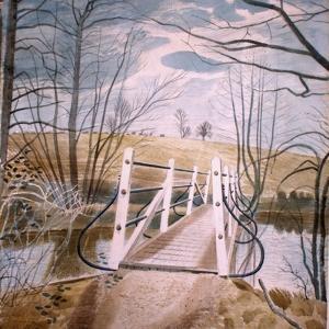 Iron Bridge at Ewenbridge, 1942 by Eric Ravilious