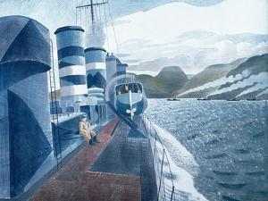 Leaving Scapa Flow by Eric Ravilious