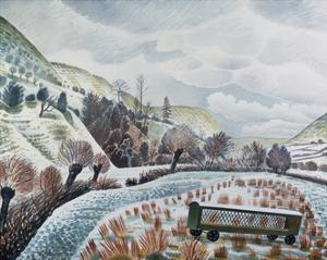 New Year Snow, 1938 by Eric Ravilious