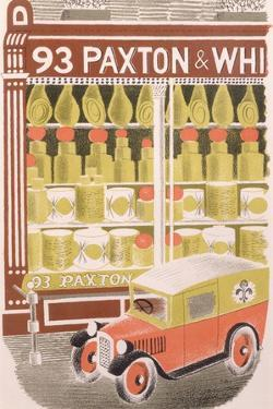 Paxton and Whitfield Cheesemongers, 1938 by Eric Ravilious