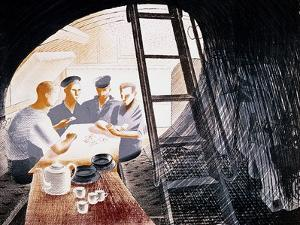 Sailors Playing Cards by Eric Ravilious