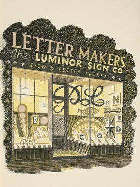 Sign Maker by Eric Ravilious